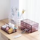 [超豐國際]塑料透明化妝品收納盒梳妝臺抽...