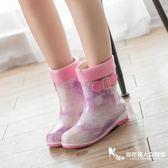 可加絨雨鞋女雨靴中筒韓國雨鞋水靴防滑女式鞋套水鞋