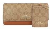 COACH 女士雙C紋長款錢包錢夾手拿包