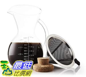 Apace Living Pour Over咖啡壺套裝帶咖啡勺和軟木蓋(1000毫升) [美國代購]