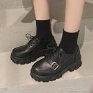英倫風小皮鞋日系女jk鞋子2020秋冬新款韓版百搭黑色厚底洛麗 【快速出貨】