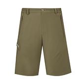 【南紡購物中心】【ATUNAS歐都納】男款彈性五分褲(A2PA2115M淺橄綠)