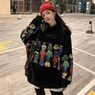衛衣女潮ins秋冬季加絨加厚新款長袖上衣學生韓版《微愛》