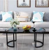 茶几 大理石茶幾小戶型簡約現代客廳桌子創意北歐網紅茶桌圓形沙發邊幾【快速出貨八折下殺】