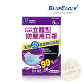 【藍鷹牌】台灣製 成人立體黑色防塵口罩 5片/包 NP-3DNPBK