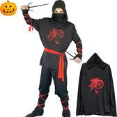 大人萬聖節服裝 表演角色扮演 日本忍者造型服
