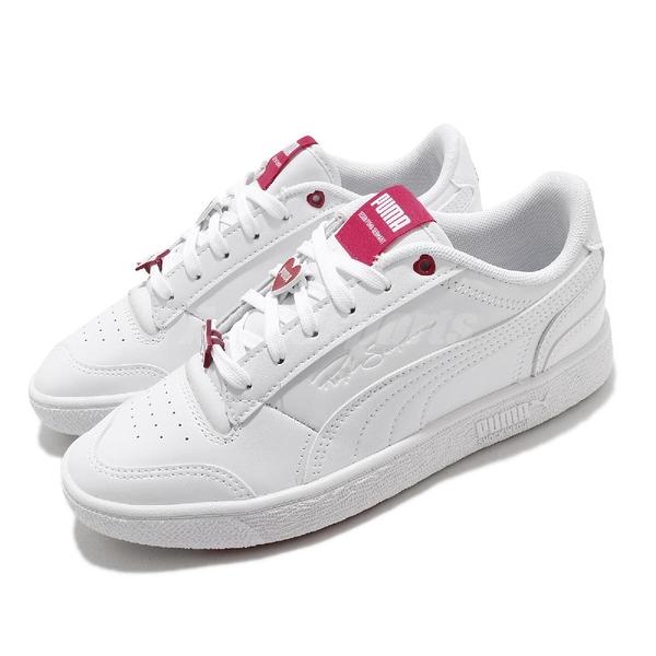 Puma 休閒鞋 Ralph Sampson Galentines 白 粉紅 女鞋 愛心 【ACS】 37501001
