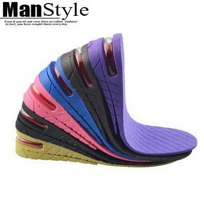 鞋墊內增高鞋墊舒適男女3-7cm舒適減震隱形氣墊【09S2393】