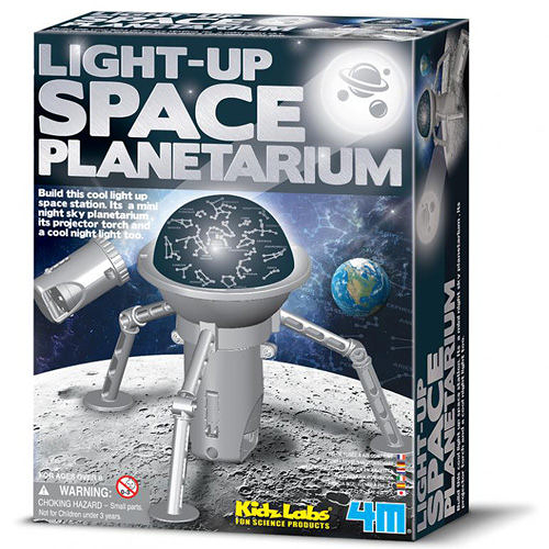《4M科學探索》Light-Up Space Planetarium 創意太空塔 ╭★ JOYBUS玩具百貨