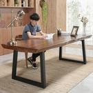 書桌美式loft實木辦公桌寫字桌 簡約現...