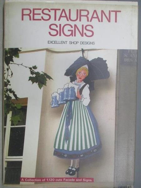 【書寶二手書T3/建築_QJL】RESTAURANT SIGNS