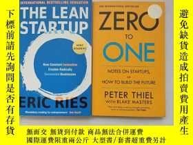 二手書博民逛書店The罕見Lean Startup+ZERO to oner peter thiel(2冊合售)Y254853