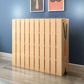 折疊床單人床1.2米實木成人雙人簡易床兒童午休床板式木板床小床   父親節禮物