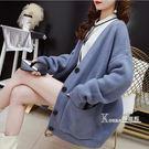 很仙的針織開衫女早秋新款毛衣女韓版寬松慵懶風學生春秋外套 Korea時尚記