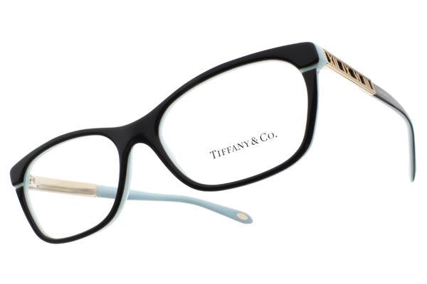Tiffany&CO.光學眼鏡 TF2102 8055 (黑-蒂芬妮綠) 浪漫情懷 羅馬數字邊飾款 # 金橘眼鏡
