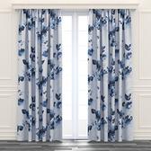 銀絲渲染印花遮光窗簾 寬290x高210cm