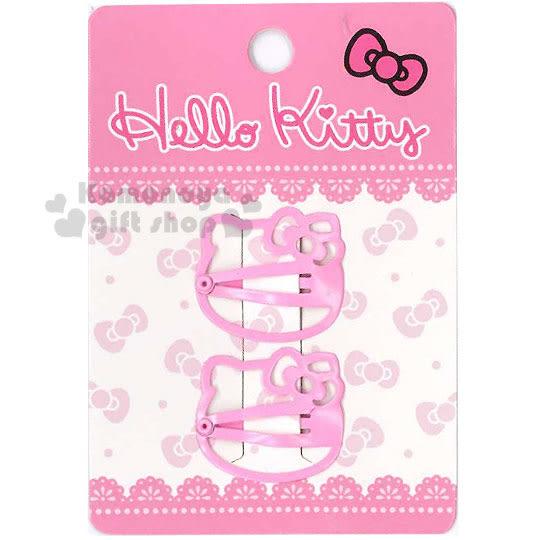 〔小禮堂〕Hello Kitty 兒童造型髮夾《2入.粉.大臉型》甜美可愛 4712977-46178