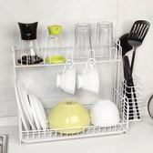 年終享好禮 廚房置物架用品餐具盤子放碗架瀝水架碗柜整理架雙層家用收納架子