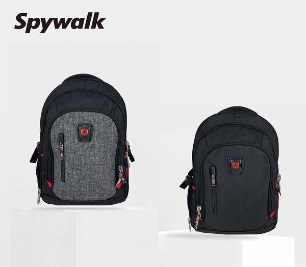 SPYWALK 紅十字多夾層休閒後背包 NO:S7206-1