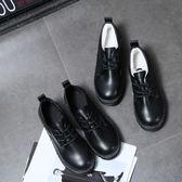 日系復古女平底單鞋學生原宿圓頭娃娃鞋百搭韓版學院風英倫小皮鞋  巴黎街頭