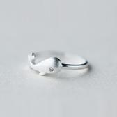 戒指 925純銀-迷人海豚生日情人節禮物女開口戒73dt249【時尚巴黎】