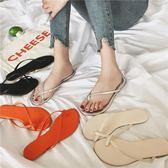 拖鞋女百搭套趾夾腳人字拖學生防滑平底沙灘涼拖鞋【韓衣舍】