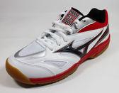 美津濃MIZUNO基本型體羽球鞋 GATE SKY 寬楦 - 71GA174009(白X黑X紅)[SUN=]