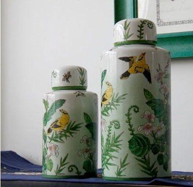 儲物罐圓罐陶瓷裝飾擺件【大】