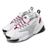 Nike 休閒鞋 Wmns Zoom 2K 白 紅 女鞋 運動鞋 老爹鞋 【PUMP306】 AO0354-107