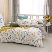 鴻宇 雙人兩用被套床包組 100%精梳純棉 如茵草 台灣製C20102