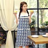 樂宜美棉麻圍裙韓版時尚 成人餐廳家居廚房圍裙清潔工作服圍裙  米娜小鋪