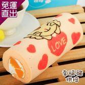 糖果貓烘焙 預購 天使貓蜜桃蛋糕捲(420g/條,共兩條)【免運直出】