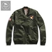 【Roush】 USA貼布設計MA-1防風外套 -【915605】