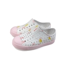 native JEFFERSON PRINT 懶人鞋 洞洞鞋 白/粉紅 小童 童鞋 15100101-8963 no022