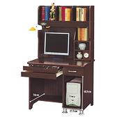 【水晶晶家具/傢俱首選】CX1462-7 杰羅姆3尺胡桃電腦書桌