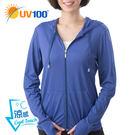 UV100 防曬 抗UV-涼感前短後長連...