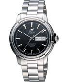ENICAR 英納格 航行經典日曆機械腕錶-黑x銀 168-50-335aB