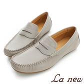 【La new outlet】 輕量氣墊休閒鞋 樂福鞋 -男221017341