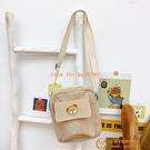 毛絨斜挎包女IG少女日系學生小熊可愛小包包手機包【小獅子】