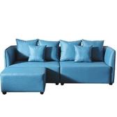 沙發 L型皮沙發 CV-337-1 佐野藍色皮沙發 (可左右擺放) 【大眾家居舘】