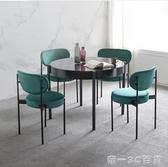 北歐西餐椅子咖啡廳休閒吧鐵藝單人靠背椅 輕奢家居餐廳ins網紅椅【帝一3C旗艦】YTL