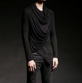 找到自己 韓國潮流 個性 不規則垂感 時尚 街頭潮男 夜店 DJ 發型師 必備 長袖T恤 特色長T