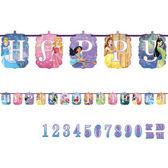 迪士尼 佈置 裝飾 生日字串1入(附歲數)-迪士尼公主