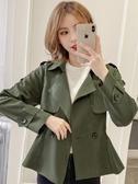短版外套 短款上衣女秋裝2019年新款韓版翻領氣質百搭寬松顯瘦長袖風衣外套