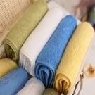 美國棉素色緞條方巾...