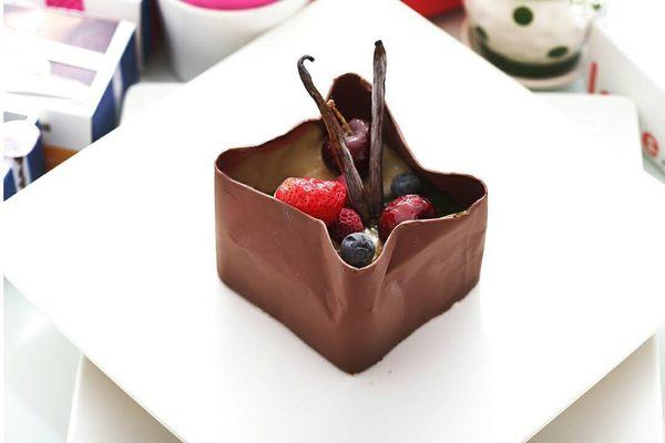 【艾美創意蛋糕】巧袋14*14公分-巧克力蛋糕
