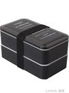 日式雙層便當盒帶蓋保溫學生帶飯盒女可愛可微波爐雙層分格壽司盒 樂活生活館
