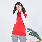 RED HOUSE-蕾赫斯-高領針織背心(共2色)