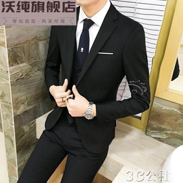 西裝外套男 韓版修身男士小西裝英倫青薄款上衣西服休閒男裝外套單西潮 快速出貨