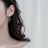 925銀耳環女長款氣質耳墜適合圓臉顯瘦個性流蘇耳環百搭時尚耳釘